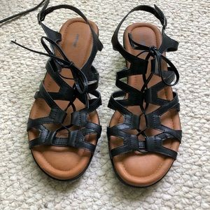 Avenue gladiator style sandals- Wide width